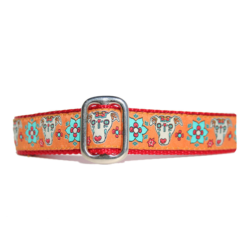 "1"" Satin-Lined Sugar Hound Tag Collar"