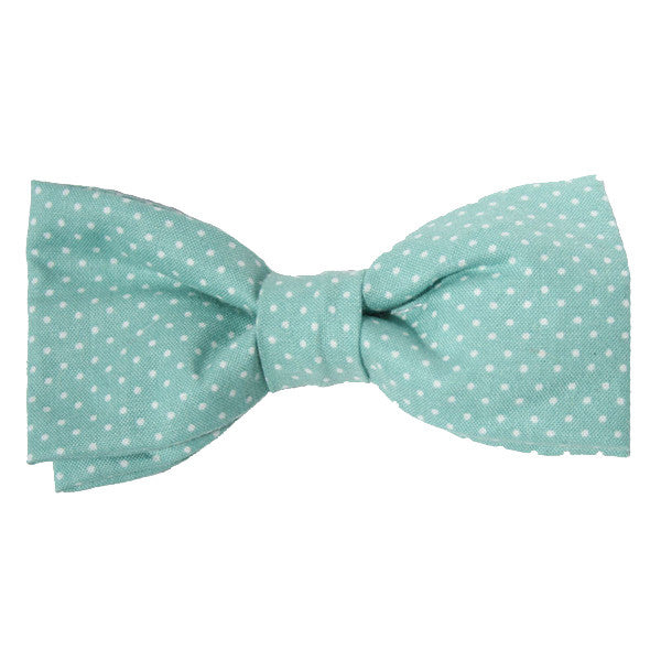 Dog Collar Bow Pin Dot Aqua | Classic Hound Collar Co.