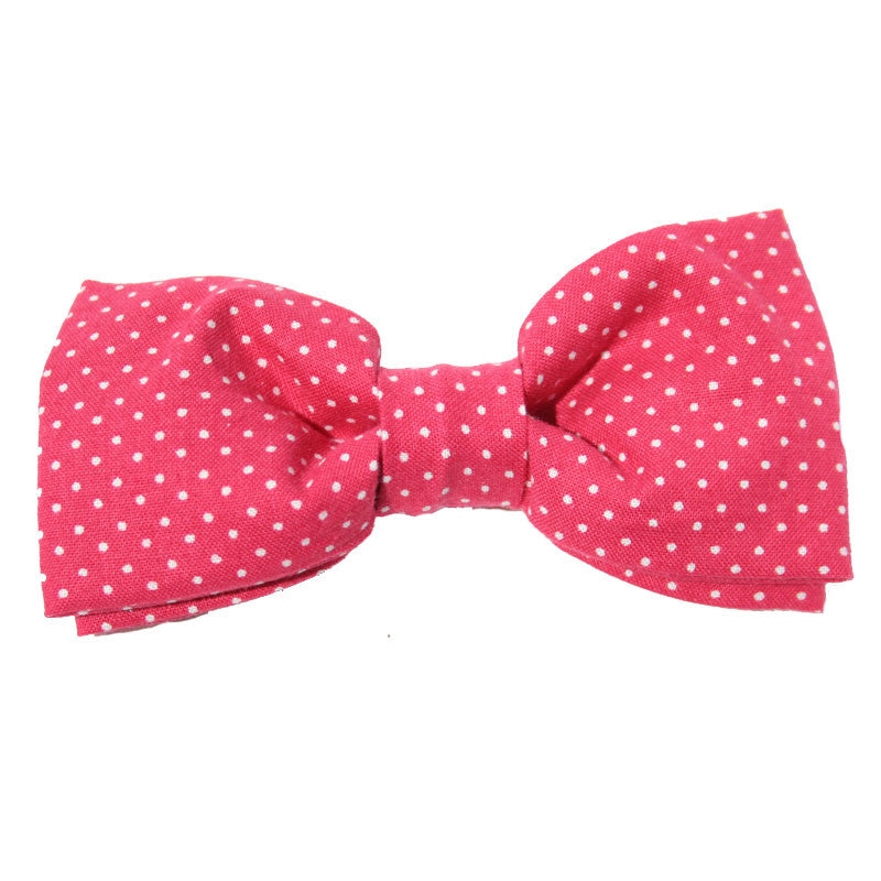 Dog Collar Bow Pin Dot Pink | Classic Hound Collar Co.