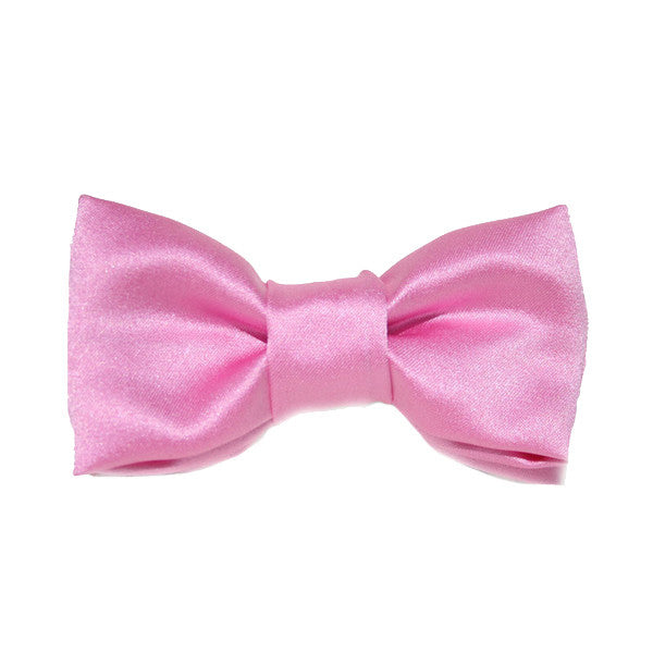 Dog Collar Bow Satin Pink | Classic Hound Collar Co.