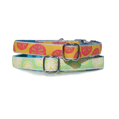"5/8"" Satin-Lined Citrus Tag Collar"