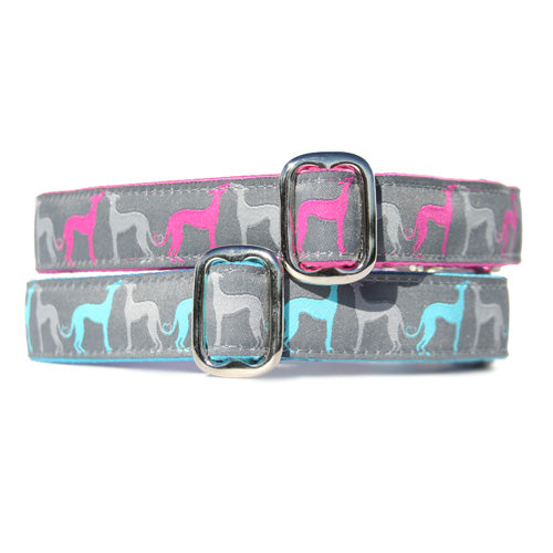 "1"" Satin-Lined Hound Amore Tag Collar"
