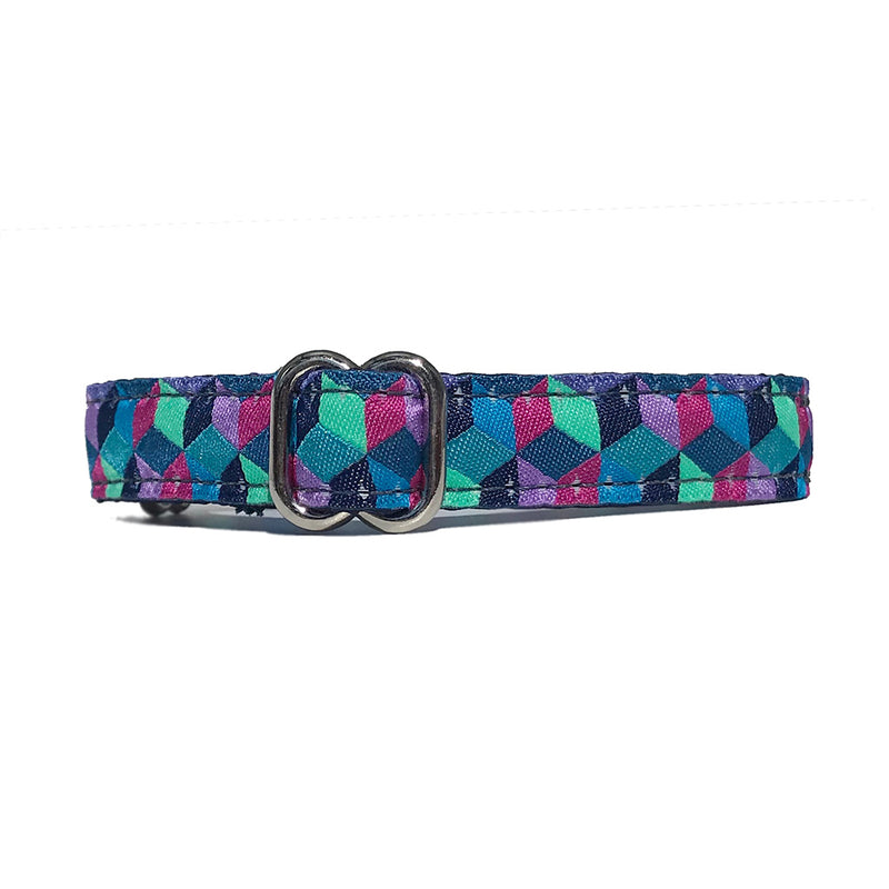 "5/8"" Satin-Lined Cubed Tag Collar"