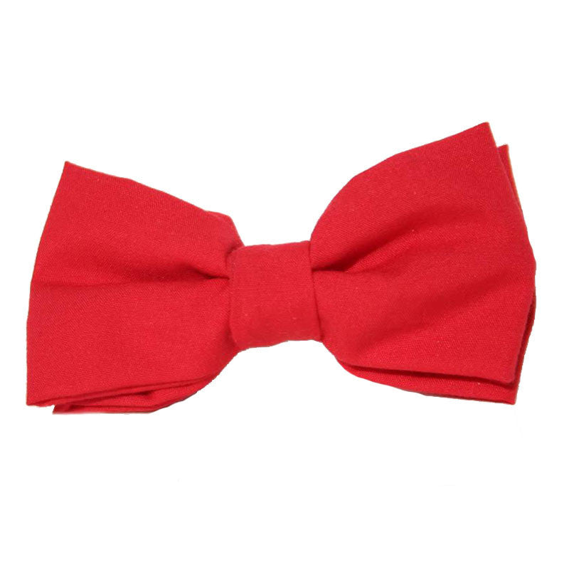 Dog Bow Tie Solid Red | Classic Hound Collar Co.