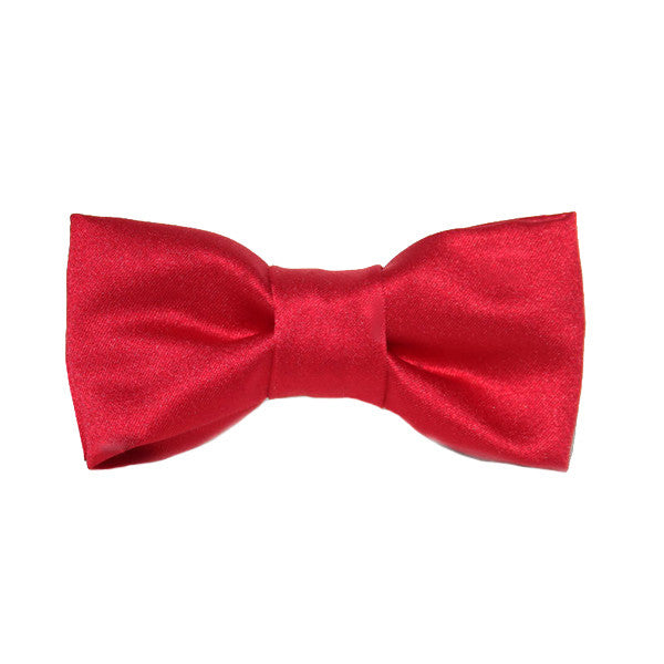 Dog Bow Tie Satin Red | Classic Hound Collar Co.