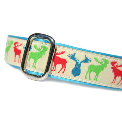 "1"" Satin-Lined Moose Tag Collar"