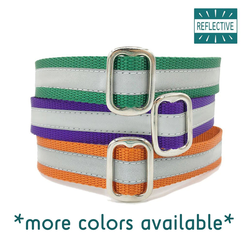 "1"" Unlined Reflective Buckle or Martingale"