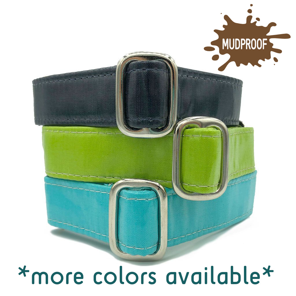 Unlined Mudproof Solid Tag Collar