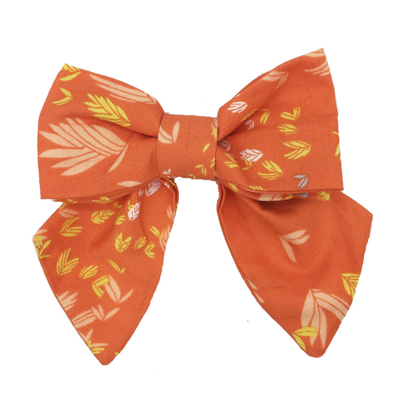 Collar Bow - Tangerine Bliss