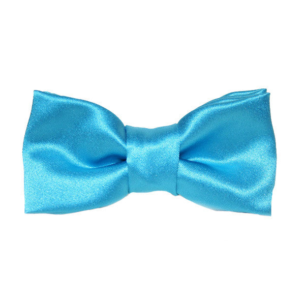 Dog Collar Bow Satin Turquoise | Classic Hound Collar Co.