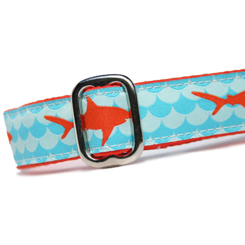 "1"" Satin-Lined Sharks Tag Collar"