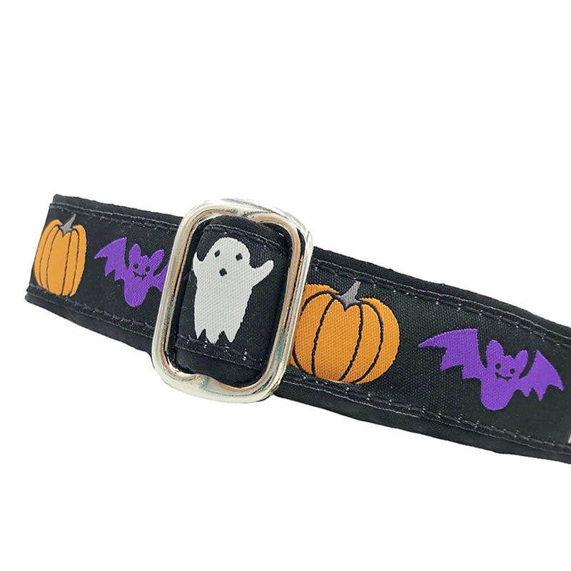 "1"" Unlined Halloween Spirit Tag Collar"