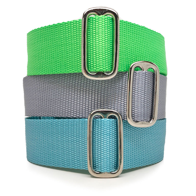 Naked Nylon SOLID COLORS Buckle or Martingale