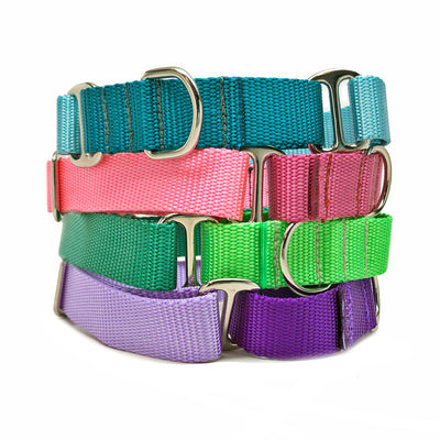 "1"" Naked Nylon SOLID COLORS Tag Collars"