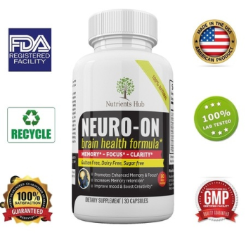 Premium Brain Supplement Improve Focus, Clarity, Memory & Mood, 30 Day Supply