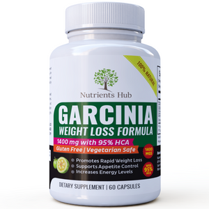 100% Pure Garcinia Cambogia 1400mgs - 95% HCA Extract - Weight Loss Pills