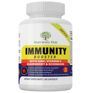 1 Bottle of Immunity Booster - Elderberry, Echinacea & Zinc and more.
