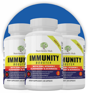 3 Bottles of Immunity Booster - Elderberry, Echinacea & Zinc and more.