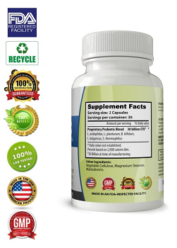 Probiotics - Best Digestive Supplement for Men, Women and Kids, 60 Capsules