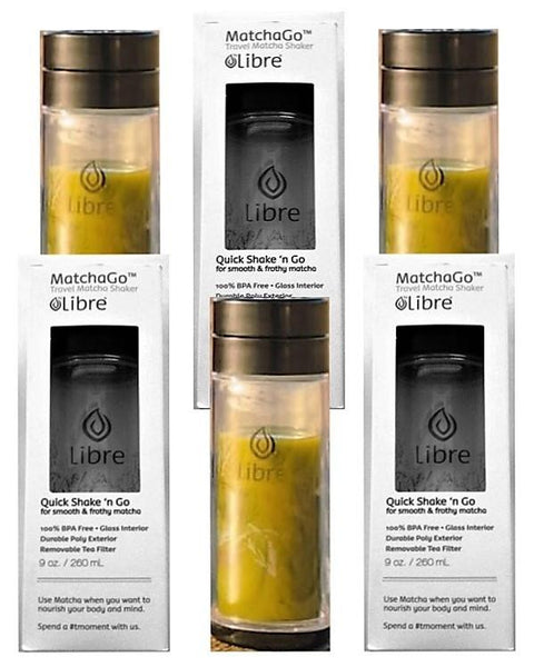 Libre Travel Matcha Shaker - MatchaGo 9oz 6-piece Gift Set