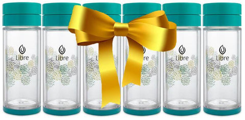 Libre Infuser - Starburst Turquoise 14oz 6-piece Gift Set