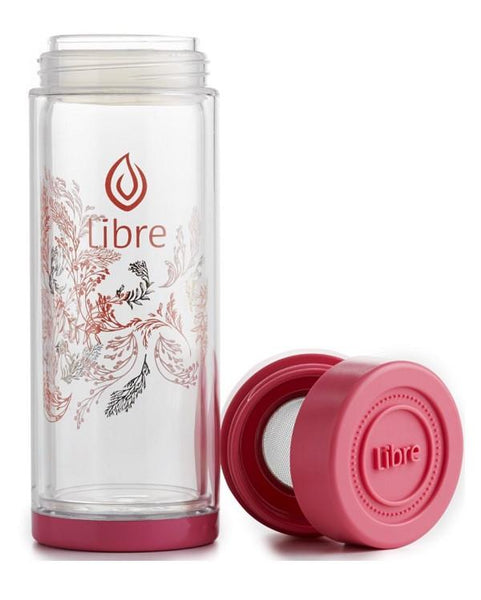 tough glass water bottle, great for fruit infusions and loose tea