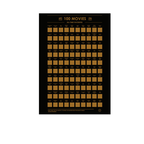 100 ICONIC MOVIES SCRATCH-OFF POSTER - TheNormalStore