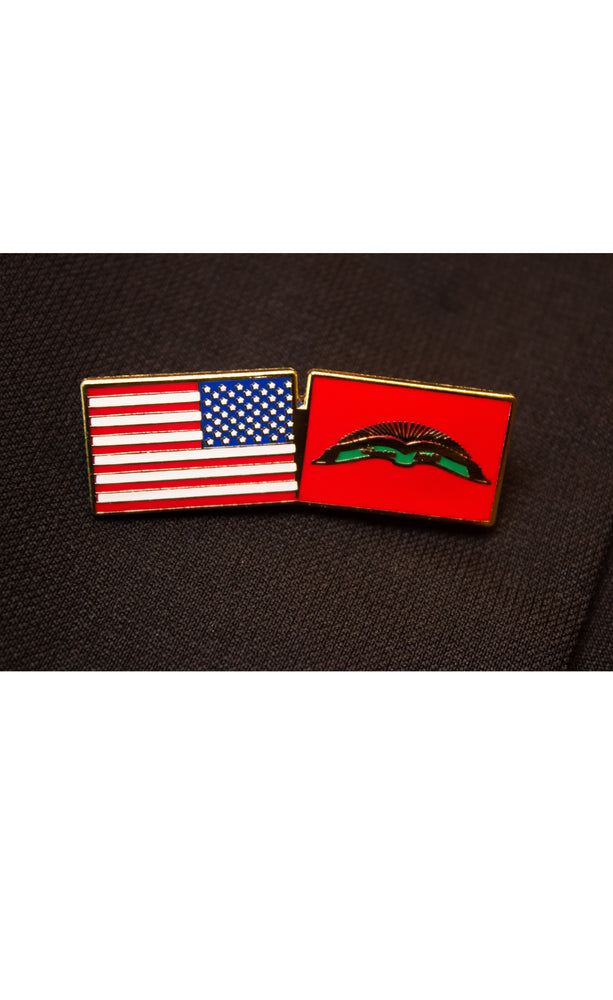 Barakat Double Flag Lapel Pin
