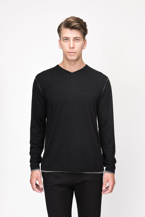 Two Layer V Neck