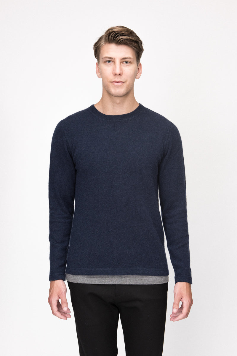 Cashmere Two Layer Crew