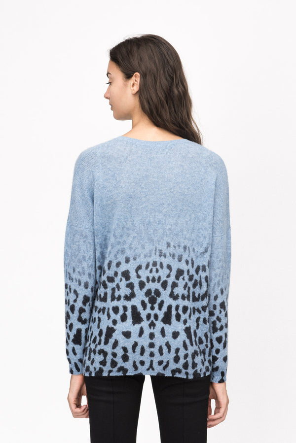 Faded Leopard Crew