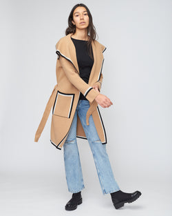 Tipped Oversize Jacket