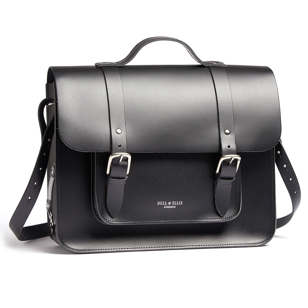 Hills and Ellis of London Black Satchel bag