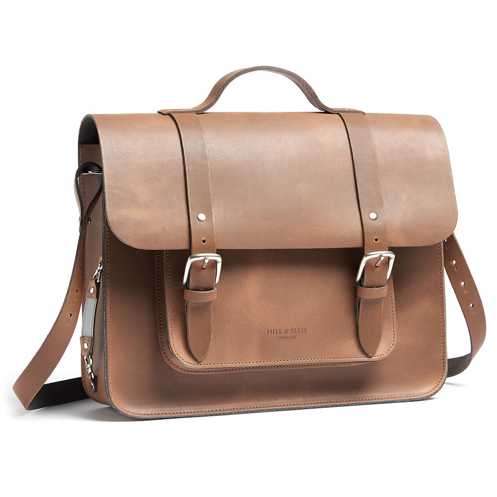 Hills and Ellis of London Tan Satchel bag