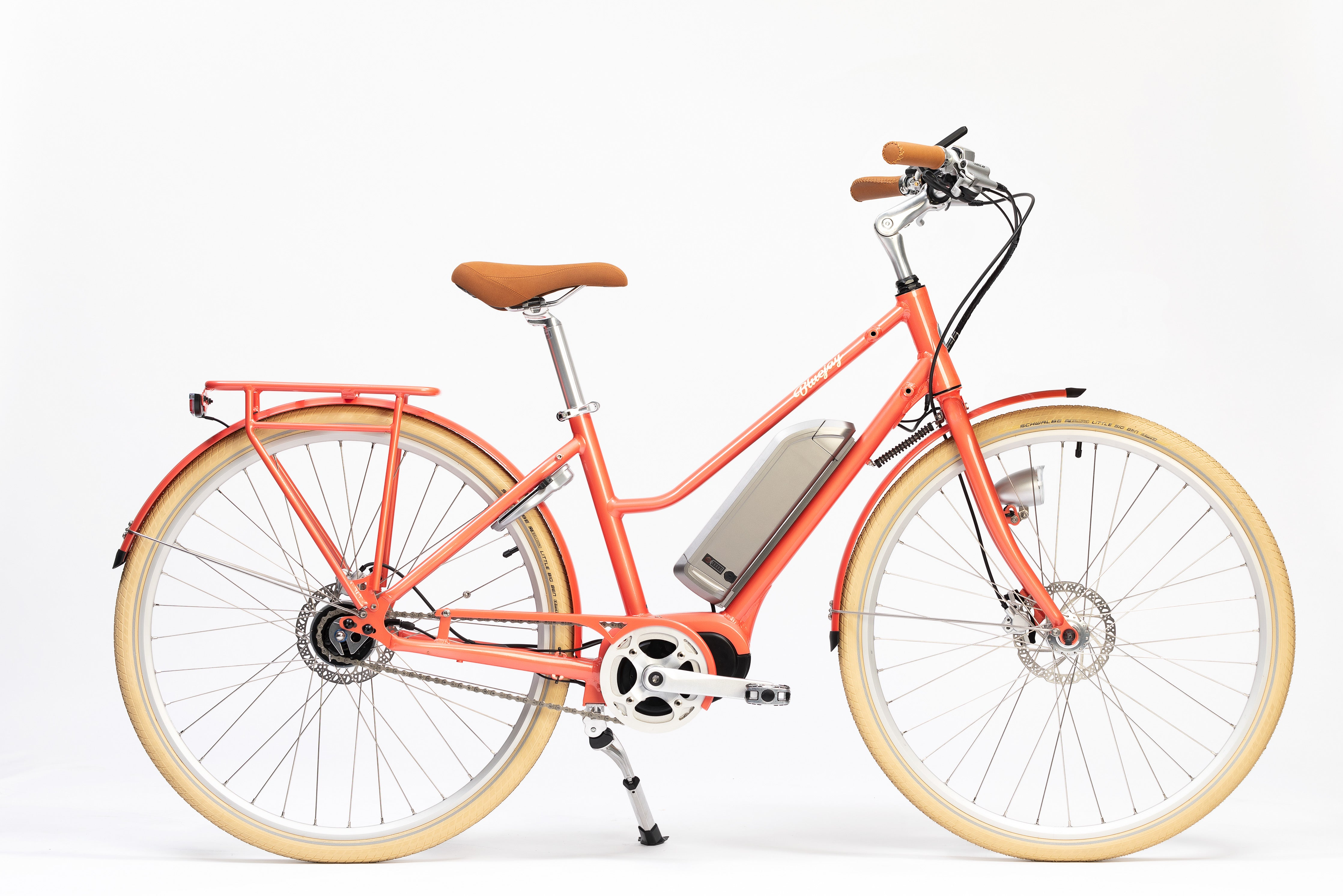 Premiere Edition Bluejay Electric Bicycle in Sunkissed Coral