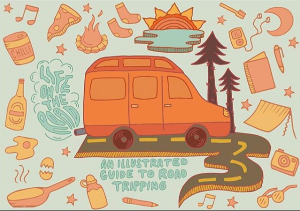 Guide to Road Tripping from Olivia Di Liberto's Instagram page