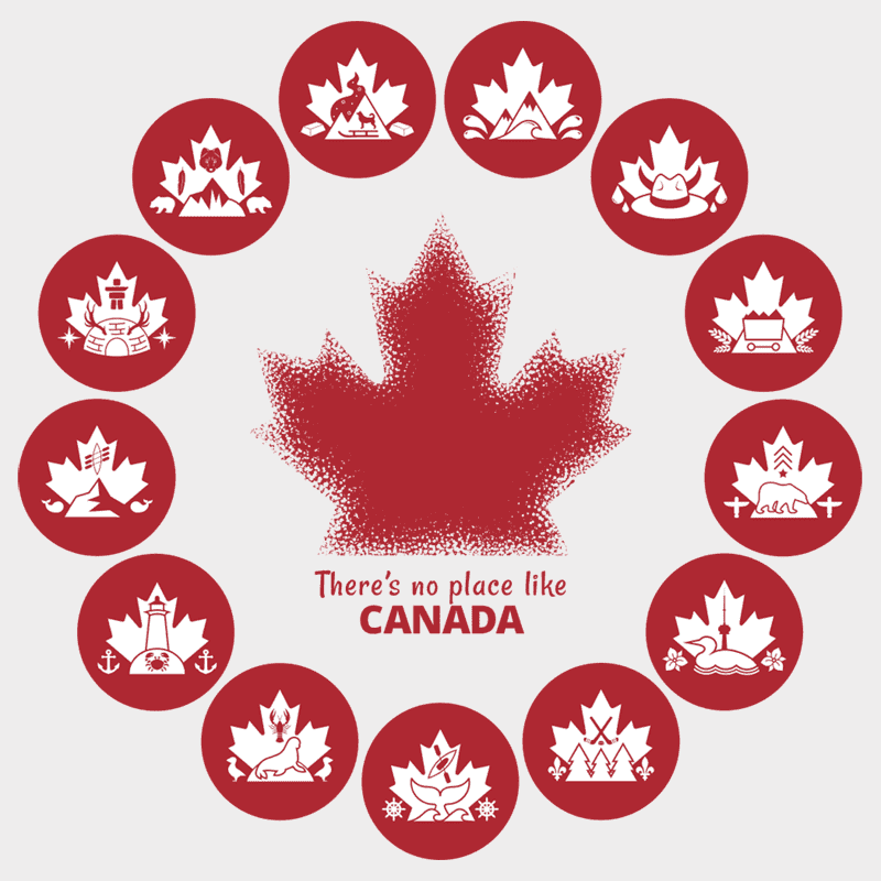There's no place like Canada Wheel Unisex T-shirt - byfor.ca