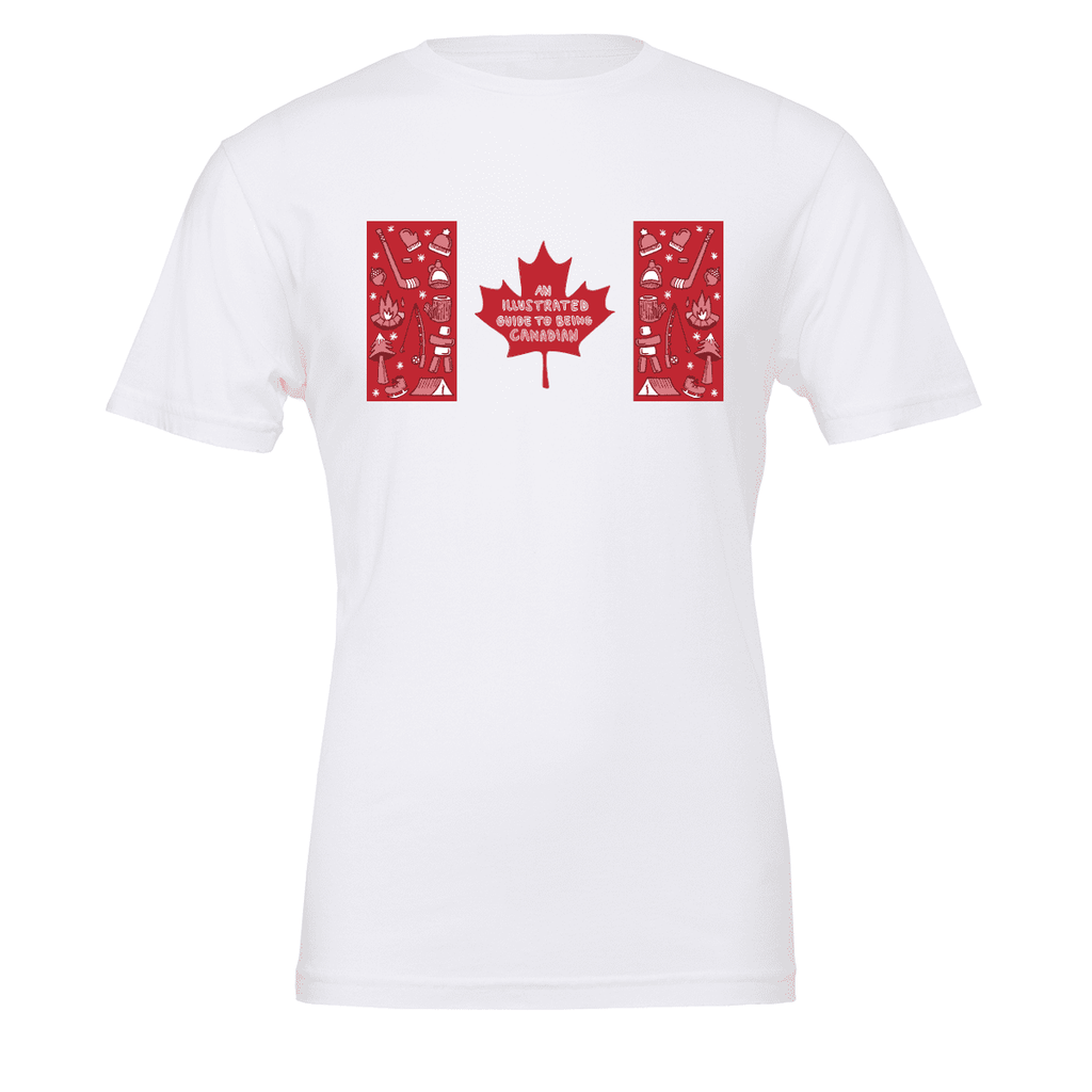 Illustrated Guide to being Canadian Unisex T-shirt - byfor.ca