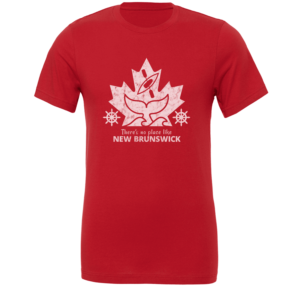There's no place like NEW BRUNSWICK Unisex T-shirt - byfor.ca