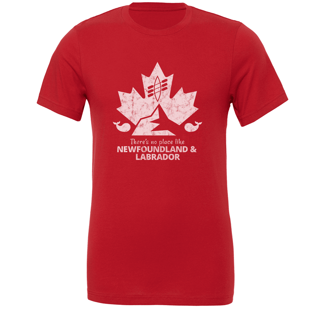 There's no place like NEWFOUNDLAND & LABRADOR Unisex T-shirt - byfor.ca