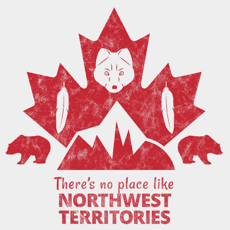 There's no place like NORTHWEST TERRITORIES Unisex T-shirt - byfor.ca
