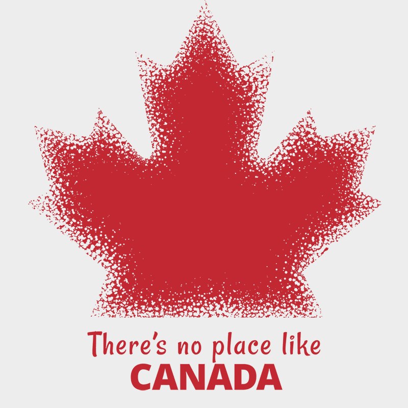No place like Canada Heavy Cotton Tote - byfor.ca