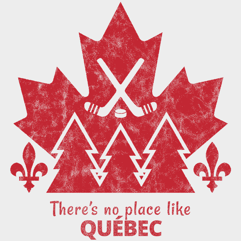 There's no place like QUÉBEC Unisex T-shirt - byfor.ca