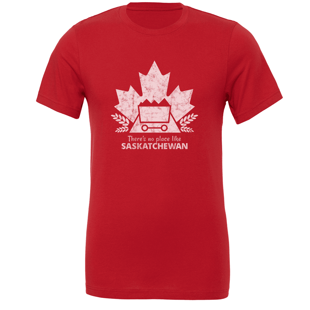 There's no place like SASKATCHEWAN Unisex T-shirt - byfor.ca