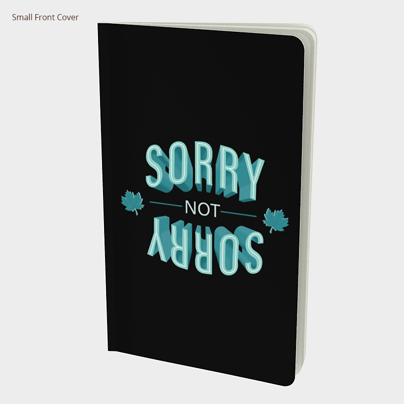 Sorry-Not-Sorry Notebook - byfor.ca