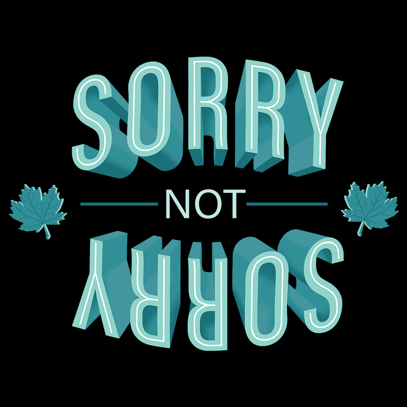 Sorry-Not-Sorry Unisex T-shirt - byfor.ca