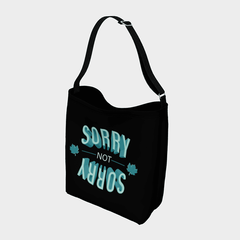 Sorry-Not-Sorry Day Tote - byfor.ca