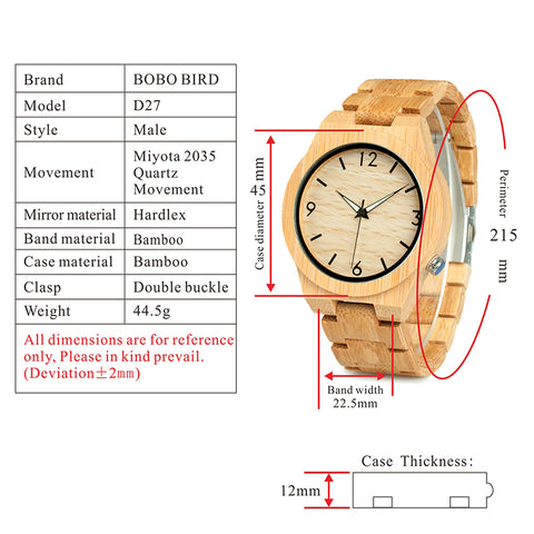 technical specifications watch
