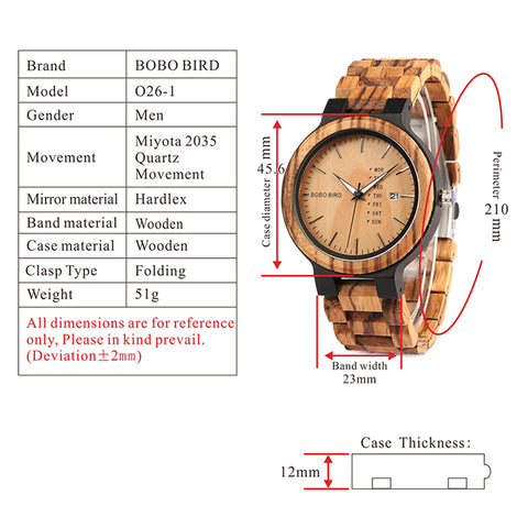 o26-1 technical specifications watch