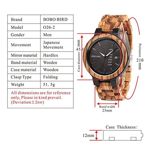 o26-2 technical specifications watch